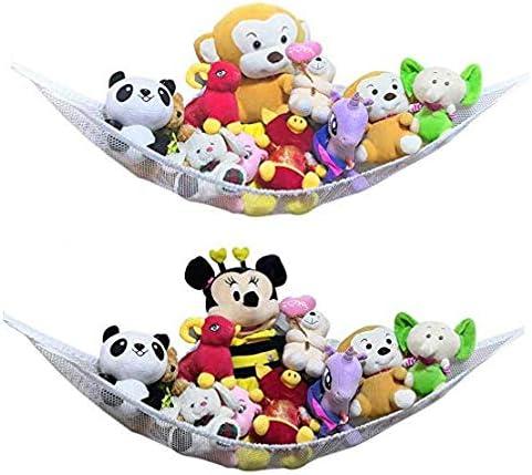 Toy Storage Organizer 2PACK Toy Hammock for Stuffed Animals 2 Large Stuffed Animal Storage Hammocks