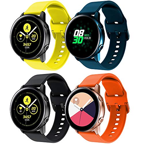 Supore Correa Galaxy Watch Active 40mm, Correas de Silicona de 20 mm con Liberación Rápida para Active 2 / Gear S2 Classic/Gear Sport/Huawei Watch 2 / Vivoactive 3