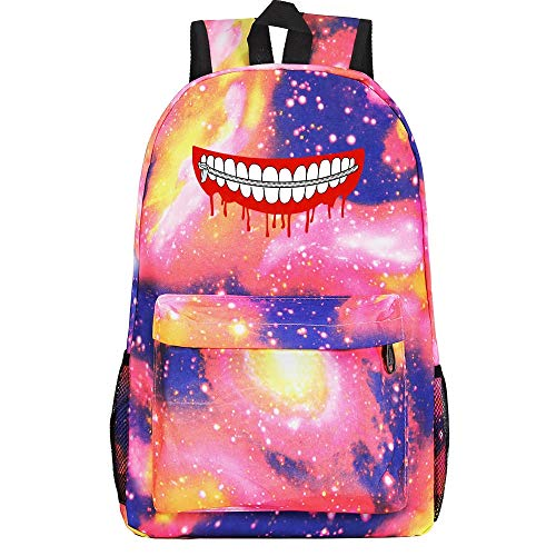 XYUANG Tokyo Ghoul Starry Sky Color Cartoon Anime Backpack Fashion Student Large Capacity Schoolbag Bagpack-B