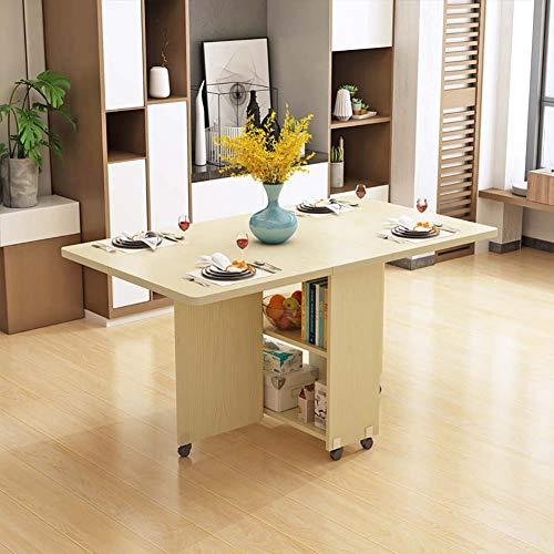 Luude Klappbarer Esstisch, ausziehbarer Couchtisch, mobiler Schreibtisch, kleiner Platzbedarf, Platz für bis zu 6 Personen weiß