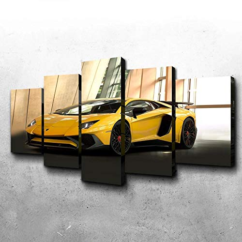 VYQDTNR - 5 Panel Wall Decor Oil Painting Canvas 3D Abstract Paintings Pikachu-SV Modern Home Decor Wall Art for Living Room Framed Easy to Hang