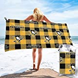 AMNIVASD Sports Pittsburgh-Penguins Bath Towel, Microfiber High...