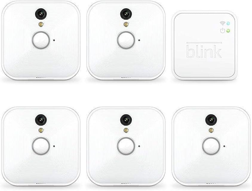 Blink Sistema de cámaras de seguridad para interiores con detección de movimiento vídeo HD 2 años de autonomía y almacenamiento en el Cloud - 5 cámaras