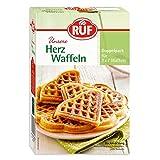 RUF Herzwaffeln Backmischung für Waffeleisen, 4er Pack (4 x 500 g)