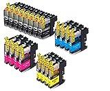 acoloriStore 20 cartucce equivalenti per Brother LC123 montate su stampante brother MFC-J4510DW MFC-J4410DW MFC-J870DW MFC-J6520DW DCP-J132W MFC-J470DW