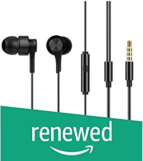 (Renewed) HiFuture J3 Deep Bass Hi-Fi Stereo Sound in-Ear, Metallic Wired Earphone with Mic for Smartphones, Featured Phone, Tablet, PSP, Laptop and PC (Black)