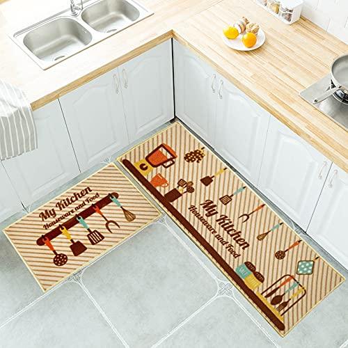HLXX Alfombrilla de Cocina Juego de alfombras Alfombras de Cocina Alfombrilla Multiusos Dormitorio Zona de sofá Baño Alfombrilla Antideslizante A5 40x60cm