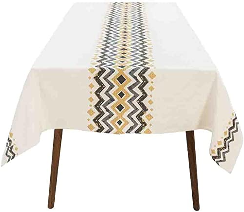 xiaowu Tischdecke modernen minimalistischen hochwertigen Baumwolle Leinen Esstisch Tuch rechteckigen Dicker Tee Tischdecke, 140  200cm