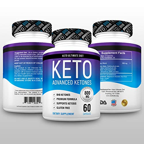 Keto Ultimate Diet - Ketogenic Diet Supplement with Beta Hydroxybutyrate Ketone Salts - Boost Energy and Metabolism - Keto Pills 60Caps 3