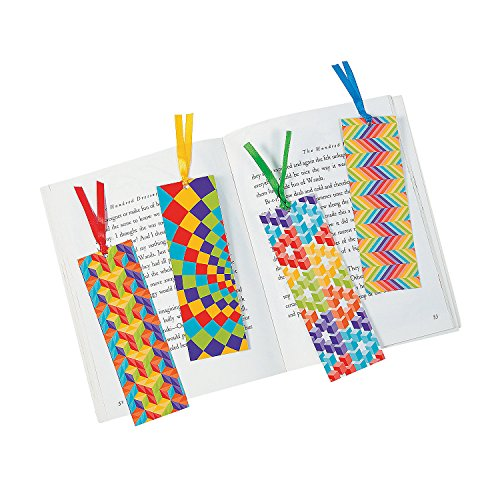 Fun Express Laminated Optical Illusion Bookmarks - 48 Pieces - Educational and Learning Activities for Kids