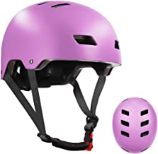 Skateboard Helmet for Kids Youth & Adults with ASTM & CPSC Certified with Two Removable Liners for Multi-Sport Scooter Rol...
