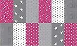 Stoffpaket Patchwork Baumwollstoffe 12 x (25x35cm) pink