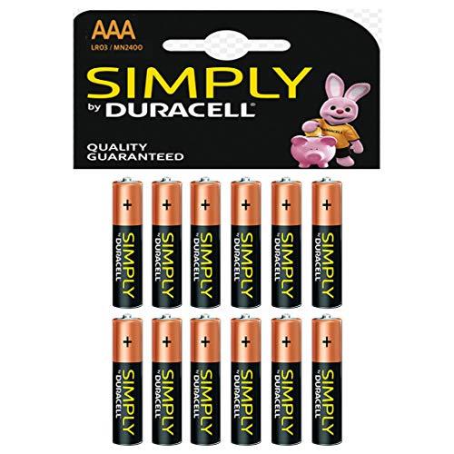 Duracell Simply - Batterie AAA (confezione da 12)