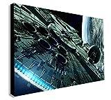 Impression sur toile murale Faucon Millenium Star Wars, tailles variées, Bois dense, A2 24x16inch