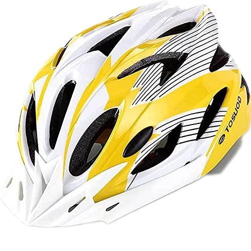 ZXJJD Casco de Bicicleta de Ciclismo, Casco de Bicicleta para Adultos, 18 Orificios de ventilación para Hombres y Mujeres, Cascos de Bicicleta de montaña de Carretera ultraligeros estables D