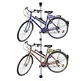 Relaxdays 10017182 - Portabicicletas telescópica para 2 bicicletas, ajustable, plateado, 160-340 cm