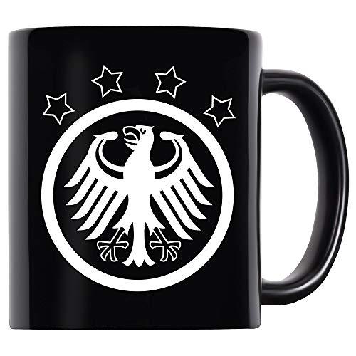 Koffiepot beker mok Duitsland adelaar retro zwart - fanshirt fanartikel fanshop tricot voetbal EM WK Duitsland