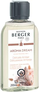 MAISON BERGER Fragrance Refill Reed Sticks and Ceramic Diffuser - 6.76 Fluid Ounces - 200ml - Made in France (Delicate Amber)