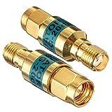 GAOHOU RF同軸アッテネータ同軸コネクタオスとメス変換SMA-JK 2Wゴールデン0-6.0 GHz 20dB 50ohm
