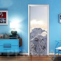 ZWYCEX ドアステッカー 3DドアステッカーDIYホームデコレーション山の風景ベッドルーム改装のためのアートピクチャーステッカー自己接着防水壁画を印刷 (Sticker Size : 95x215cm)