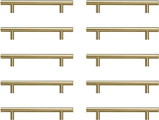 Sturdyy Tiradores Cocina Tiradores Armarios Oro 10 Piezas Acero Inoxidable Pintura en Aerosoll Lnstalación de Agujeros Oro