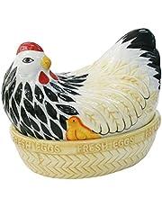 Mason Cash Madre Chip Resistente gallina Nido Huevos Almacenamiento, Multicolor,