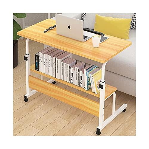 Computadora Mesa plegable para computadora Escritorio portátil ajustable para computadora portátil Girar la mesa de la cama para computadora portátil Se puede levantar Escritorio de pie para oficina e