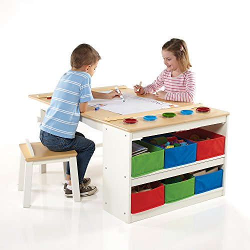 Activity Table and Drawing Desk with Stools