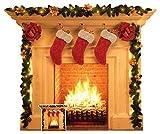 Star Cutouts SC1458 - Expositor de cartón para chimenea (1 dimensional, ideal para decoración navideña para escenas de Papá Noel, incluye escaparates, fiestas de oficina y el hogar, altura 101 cm)