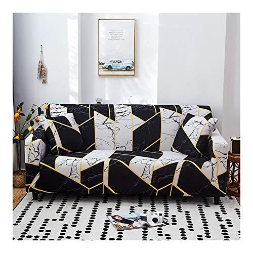 ZIJ Funda elástica para sofá de diferentes formas, para sofá o sillón, estilo L, color 22, tamaño: 3 plazas, 190 230 cm)