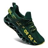 Wonesion Herren Schuhe Laufschuhe Herren Damen Sportschuhe Straßenlaufschuhe Sneaker Joggingschuhe Turnschuhe Walkingschuhe Traillauf Fitness Schuhe, 5-Dunkel grün, 47 EU