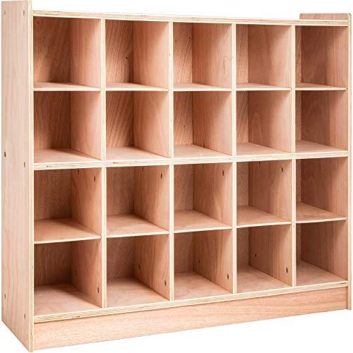 Happybuy Cubby Wooden Storage Unit 20 Cubby Storage Unit Classroom