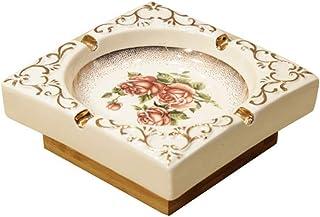 JIAJBG Novedad Cenicero de cerámica retro durable moda simple multifunción oficina hogar fácil de limpiar