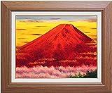 小林幸三『赤富士』油絵 油彩画 F6(6号)