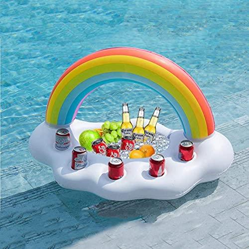 ORTUH Tenedores inflables de la bebida de la alta calidad para la piscina inflable del sostenedor de la taza de la bebida de la piscina flotante para
