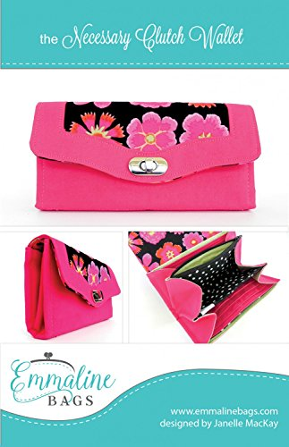 Emmaline Bags The Necessary Clutch Wallet Sewing Pattern Designed by Janelle MacKay