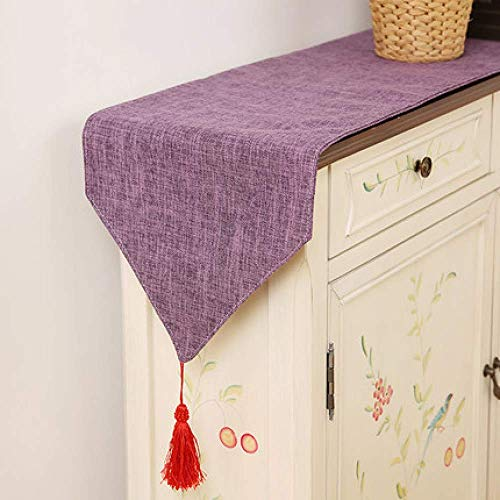 LY88 Rectangular Table Runner Polyester Fabric Home Decoration for Party Wedding I 30x140cm