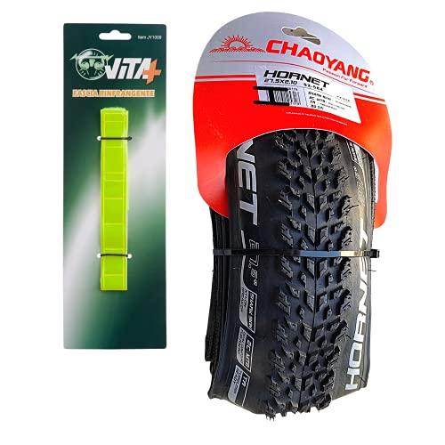 Generico Chaoyang Hornet - Neumáticos MTB de 27,5 x 2,10 pulgadas, neumáticos MTB de 27,5 x 2,10 Tubeless Ready, neumáticos MTB para Enduro y con banda reflectante