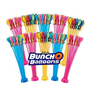 ZURU BUNCH O BALLOONS - 330 Rapid-Fill Crazy Color Water Balloons (10 Pack) Amazon Exclusive