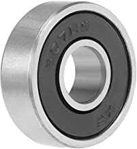 uxcell 607-2RS Deep Groove Ball Bearing 7x19x6mm Double Sealed Chrome Steel Bearings 1-Pack