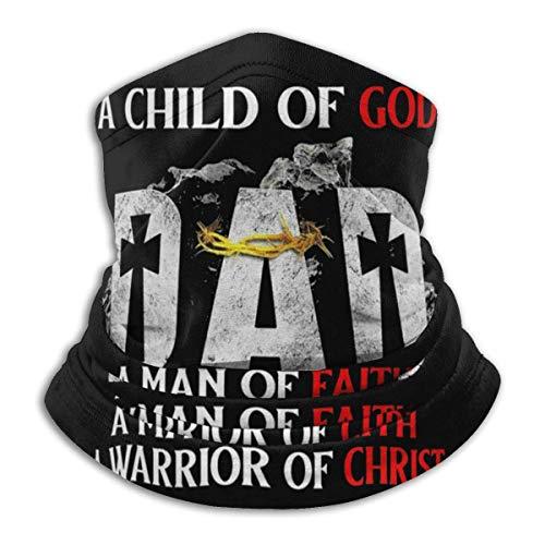 Un Hijo de Dios Papá Un Hombre de fe Un Guerrero de Cristo Cubre la Cara Polaina para el Cuello Pasamontañas Multifuncional