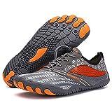 ZKPZYQ Zapatillas de deporte para hombre y mujer, suaves, antideslizantes, transpirables, portátiles, de secado rápido, para correr (41, gris)