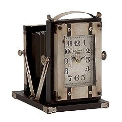 Plutus Brands Vintage Styled Buckingham Fancy Metal Table Clock