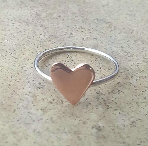 Handmade Copper Heart Ring