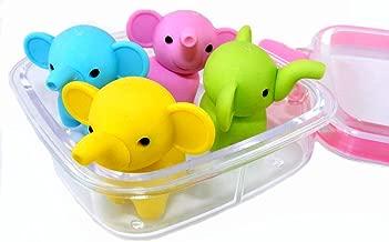 Iwako Japanese Erasers in A Mini Bento Box -Elephants