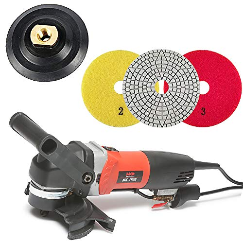 Fantastic Deal! MK-1503 MK Diamond Polisher - Electric Stone Polisher - MK-1503-4 Inch Di Flexible B...