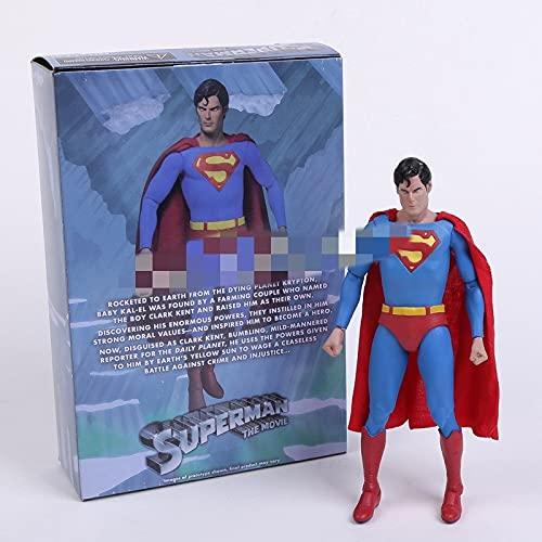 aolongwl Figura Juguete Bruce Wayne Clark Kent Joker PVC Figura de acción de PVC Juguete Coleccionable 7'18 cm Figura Juguete (Color : Superman)