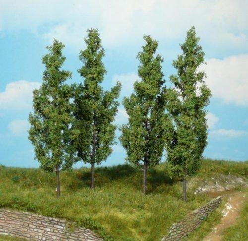 Heki 1719 - Árboles de álamo (4 unidades, altura de 14 cm), multicolor , color/modelo surtido