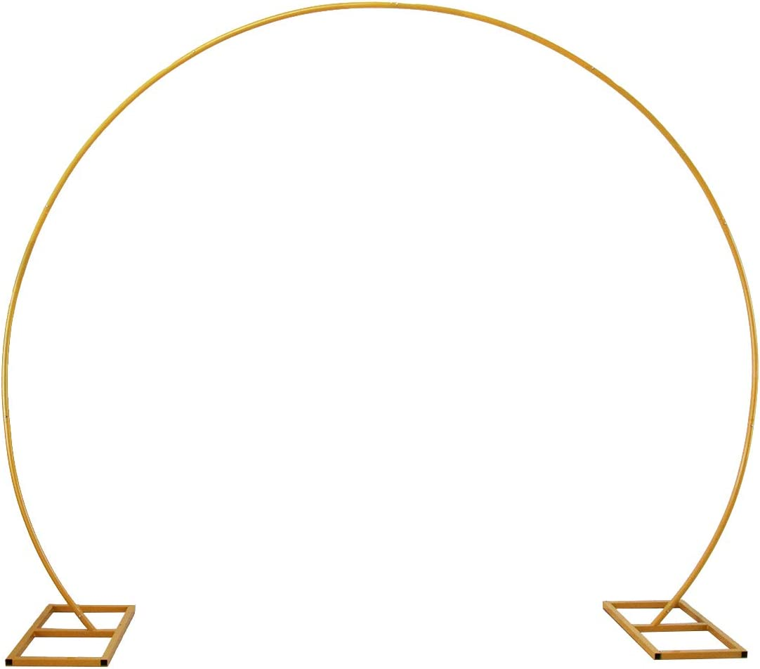 LANGXUN Large Size Golden Metal Circle Balloon Arch Decoration, for Birthday Decoration, Wedding Decoration, Graduation Decorations and Event Party Supplies, Baby Shower Photo Background Decoration