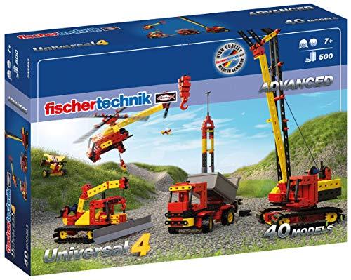 Fischertechnik 548885 Bauset Universal 4-der perfekte Baukasten für technikbegeisterte Kids-Das Konstruktionsspielzeug mit 40 verschiedenen Modellen sorgt für einen weiten Einblick in die Technik-Welt